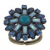 Konplott Ring Ethnic Mosaic blau / grün
