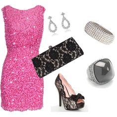 Not sure where I would wear this, but...it's pink AND sparkly!