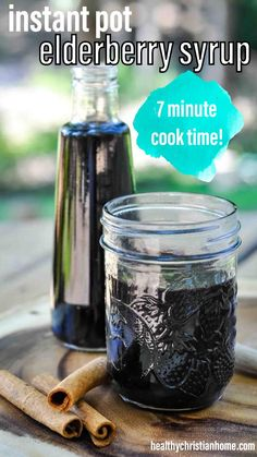 This instant pot elderberry syrup is definitely the fastest way to make a popular cold remedy! Boost your immune system quickly with this easy instant pot elderberry syrup recipe. #instantpot #instantpotelderberry #elderberry #elderberrysyrup #elderberries #coldremedy #remedies #coldremedies #immune #immunesupport #naturalremedies