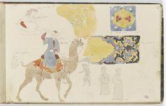 Etudes d'après des figures orientales et des motifs décoratifs Delacroix Eugène