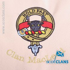 Clan MacLeod Custom Embroidery @scotclans. Free worldwide shipping available