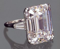 Harry Winston 50 carat diamond ring.