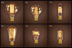 Filament Light Bulb - Edison Vintage Squirrel Cage Decorative Antique Industrial