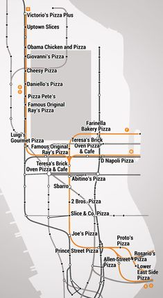 The Manhattan Pizza Slice Subway Map