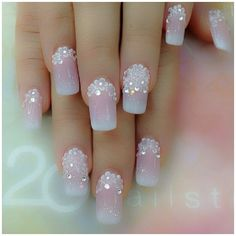 If I was into nail art...and had somewhere really special to go...and didn't need to garden...and had something pale pink to go with it...and