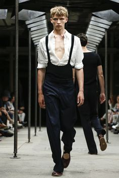 The lither bodies of male dancers, and the clothing they wear both on and off the stage, was where designer Dries Van Noten began this season's sartorial conversation. A collection expressly focuse...