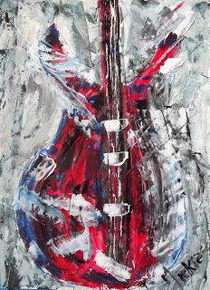 A Pretty Talent Blog: Water Mixable Oils: Guitar Arts And Crafts, Guitar, Abstract, Music, Water, Pretty, Artwork, Artist, Blog