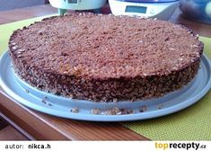 Zdravý koláč bez mouky a cukru recept - TopRecepty.cz Tiramisu, Banana Bread, Low Carb, Cooking Recipes, Pudding, Baking, Fit, Ethnic Recipes, Desserts