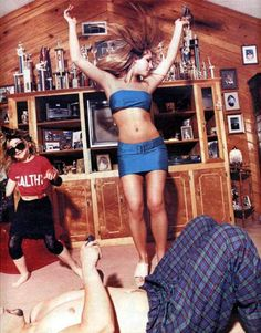 Britney in her Louisiana home, 1999