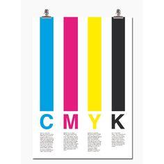 Cmyk poster i gruppen Tavlor & Posters / Posters / Färg & Form hos RUM21.se (109458)