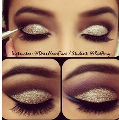 Easy and gorgeous cut crease by Tamanna Roashan #makeup #glitter