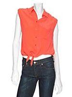 #exclusivesMIX Equipment EXCLUSIVE Tie Front Sleeveless Blouse