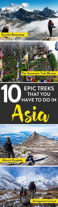 Asia Travel   Looking for the best trekking in Asia? Here's our list of epic treks to take on for avid climbers!