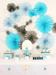 birthday party kids Picture - More Detailed Picture about Single Layer Paper Fans Wedding Backdrop Reception Decoration Frozen Party Supplies Birthday Party Kids Picture in Decorative Flowers & Wreaths from Romance's store in China Party Kulissen, Bird Party, Craft Party, Sleepover Party, Party Wedding, Wedding Favours, Blue Wedding, Party Favors, Penguin Baby Showers