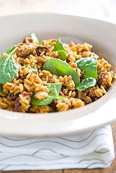 Chorizo is a spicy sausage traditionally made with pork and seasoned with garlic, chili powder and other spices. Rich, spicy and hearty, this crowd pleaser is a one-dish meal perfect for dinner after a busy day.
