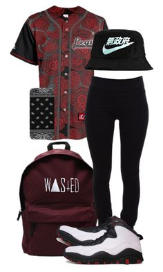 """""""bored..."""" by simoneswagg ❤ liked on Polyvore featuring Helmut Lang, NIKE, women's clothing, women, female, woman, misses and juniors"""