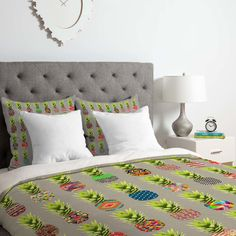 East Urban Home Bianca Pineapple Party Duvet Cover Set Size: Twin/Twin XL