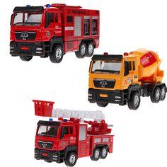 1 개 1:55 슬라이딩 합금 자동차 트럭 모델 어린이 toys 화재 엔진 아기 chirstmas에 생일 선물