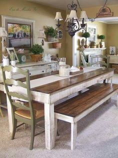 decoracin farmhouse table with dining