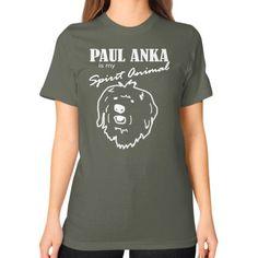 Paul Anka - Unisex T-Shirt (on woman)
