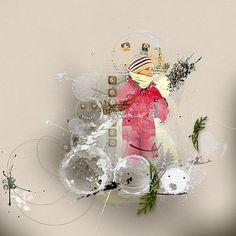 SnowMan notion set by Dido Designs JazzedUp LoopDaLoop No 3 by Anna Aspnes