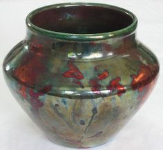 Raku vase by Mark Crowley.