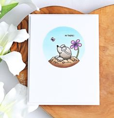 Hello there and welcome to day three of the Clearly Besotted July 2019 Teasers. Not long to wait now, the new stamps release on Monday, White Gel Pen, Scrapbooking, Hero Arts, Copic Markers, Gel Pens, Mole, Plushies, Teaser, Card Stock