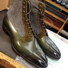 Edward Green MTO's…. Mens Shoes Boots, Shoe Boots, Flat Boots, Ankle Boots, Dress With Boots, Dress Shoes, Basket Sneakers, Custom Made Shoes, Italian Leather Shoes