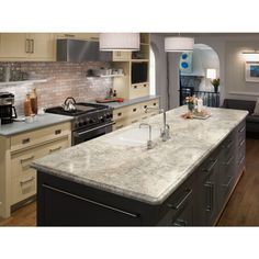 Formica Brand Laminate 60 In X 144 In Crema Mascarello  Radiance Laminate  Kitchen Countertop Sheet 3422 Rd 60X144 000