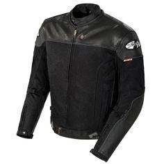 JoeRockety Reactor 2.0 Hybrid Leather and Mesh Riding Jacket