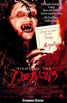 Night of the Demons (1988) 90 min  -  Horror . . .  . . . http://www.imdb.com/title/tt0093624/ http://en.wikipedia.org/wiki/Night_of_the_Demons_(1988_film)