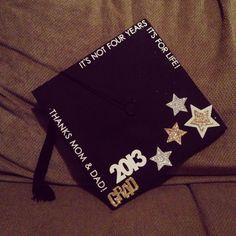 Love this decorated grad cap, so cute!