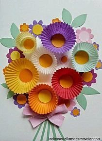 Fantastic 60 Simple, Inexpensive, Yet Funny DIY Cupcake Liner Crafts - Spring Crafts For Kids Kids Crafts, Summer Crafts, Toddler Crafts, Preschool Crafts, Easter Crafts, Craft Projects, Arts And Crafts, Craft Ideas, Christmas Crafts