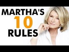 Martha Stewart's Top 10 Rules For Success - YouTube