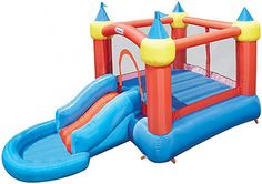 Little Tikes Inflatable Bounce Castle with Slide into Ball Pit