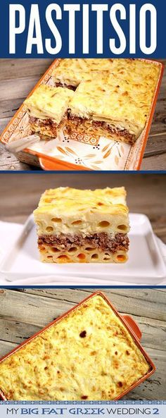 Heres an authentic Pastitsio Greek Lasagna Recipe to help celebrate the movie My Big Fat Greek Wedding 2 which debuts in theaters on March 25 2016 Greek Lasagna, Greek Dinners, Greek Cooking, Mediterranean Recipes, Mediterranean Lasagna, International Recipes, Italian Recipes, Greek Food Recipes, Love Food