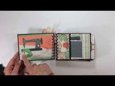 Bo Bunny Pin Cushion Mini Album - YouTube by My Sisters Scrapper