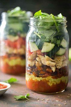 Mason Jar Healthy Taco Salad