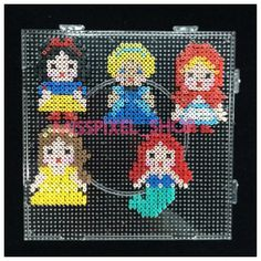 Snow White, Cinderella, Belle, Ariel and Little Red Riding Hood  perler beads by misspixel_shop