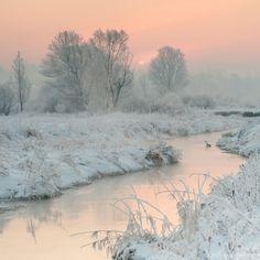 "magic-spelldust: "" Snowy Pastel Winter Scenes by Katarzyna Gritzmann """