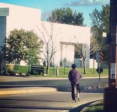 Prince ~  riding his bicycle