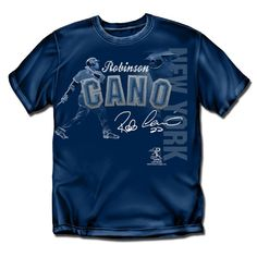 New York Yankees MLB Robinson Cano Players Stitch Boys Tee (Navy) (X Large)