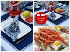 Set a Nautical Tablescape and Host a Summer Seafood Dinner Party.  Tips and Recipes. | The Party Bluprints Blog
