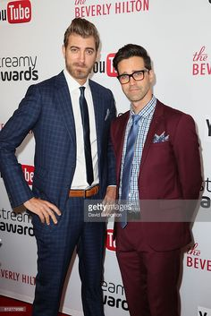 Rhett and Link arrives at the 2016 Streamy Awards at The Beverly Hilton Hotel on October 4, 2016 in Beverly Hills, California.