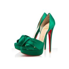Wedding Shoes / Pretty #green #louboutins found on Polyvore