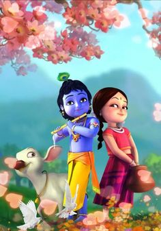 Jai Shri Radhe Radha Krishna Wallpaper Radha Krishna for The Most Awesome Cartoon Krishna Wallpapers<br>