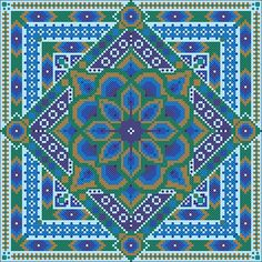 Peacock Mandala Σταυροβελονιά ΜΟΝΟ PDF από NorthernExpressions1