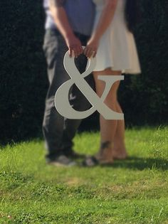 Large ampersand. Wedding Engagement photo shoot prop. Extra large letters. Wedding guest book alternative. by SimplySpecialBoutiq on Etsy