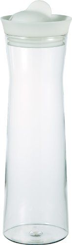 Hario Glass Water Pitcher with Silicone Lid - White, 1000ml ** Want additional info? Click on the image.