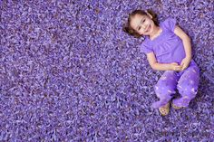 @stephendennes, a beautiful little girl in a bed of #lavender